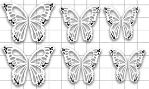 Negative Space Butterfly Wings
