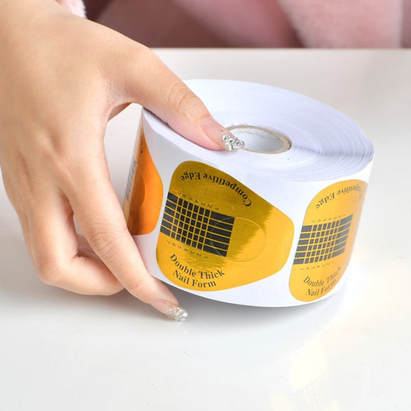 Professional Nail Form Guide 1 Roll (500pcs)