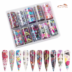 1 Box Retro Nail Foil - Mixed Patterns