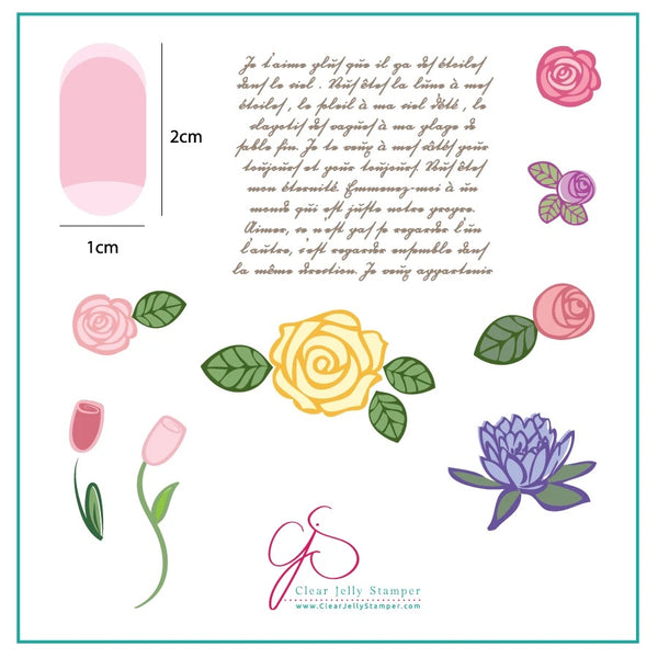 Simple Rose and Script (CjS-02)