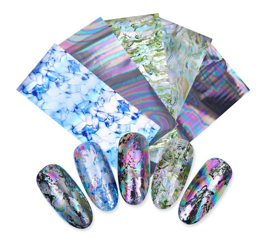 5 Sheets Starry Holographic Nail Transfer Foil