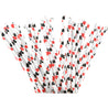 Red | Black Hearts Paper Straws Biodegradable and Compostable - STRAWTOPIA