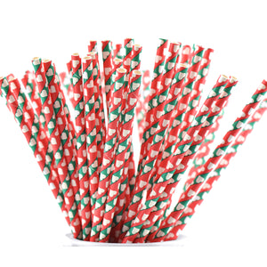 Christmas Paper Straws Biodegradable and Compostable - STRAWTOPIA