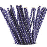 Deep Blue with White Polka Dots Paper Straws — STRAWTOPIA - STRAWTOPIA