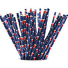 Deep Blue with Santa Claus'Cap Paper Straws Biodegradable and Compostable - STRAWTOPIA