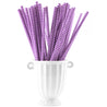 Purple | White Chevron Paper Straws Biodegradable and Compostable - STRAWTOPIA