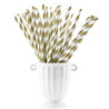 Gold | White Striped Paper Straws — STRAWTOPIA - STRAWTOPIA
