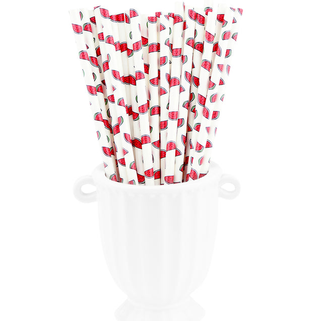 Watermelon Paper Straws Biodegradable and Compostable - STRAWTOPIA