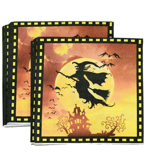 Halloween Witch Paper Napkins — STRAWTOPIA