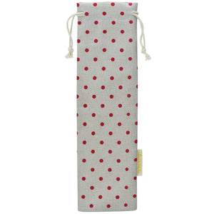 Handmade Drawstring Case Holder for Straws (Red Polka Dots) — STRAWTOPIA