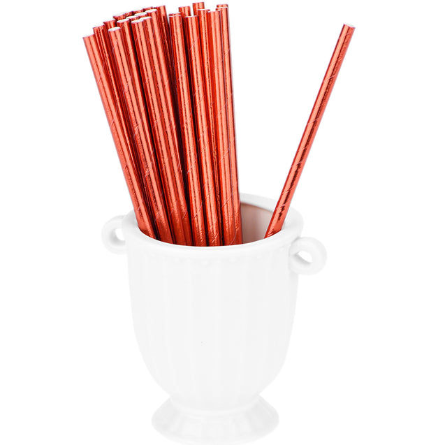 Metallic Red Gold Paper Straws — STRAWTOPIA - STRAWTOPIA