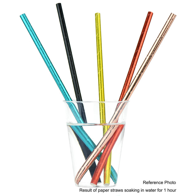 Metallic Black Paper Straws — STRAWTOPIA