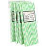 Minty Light Green Striped Paper Straws — STRAWTOPIA - STRAWTOPIA