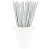 Metallic Silver Paper Straws Biodegradable and Compostable - STRAWTOPIA