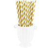 Metallic Gold Striped Paper Straws —  STRAWTOPIA - STRAWTOPIA