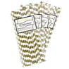 Gold and White Column Paper Straws  —  STRAWTOPIA - STRAWTOPIA