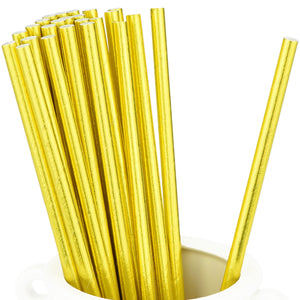 Metallic Yellow Paper Straws — STRAWTOPIA - STRAWTOPIA