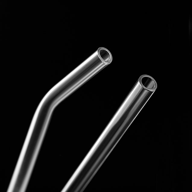 strawtopia bendy glass straw and straight glass straw 8mm wide