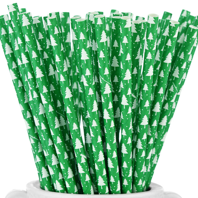 Green | Trees Paper Straws — STRAWTOPIA