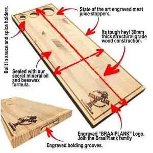 BraaiPlank™ PINE with Laser Engraving