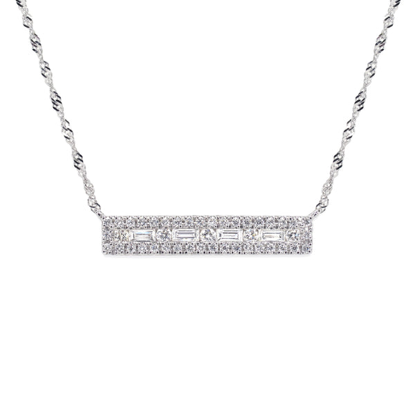 Pinnale Necklace with Bejewelled Frame