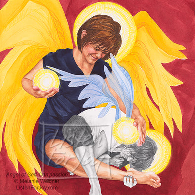 Original Art - Angel of Self-Compassion