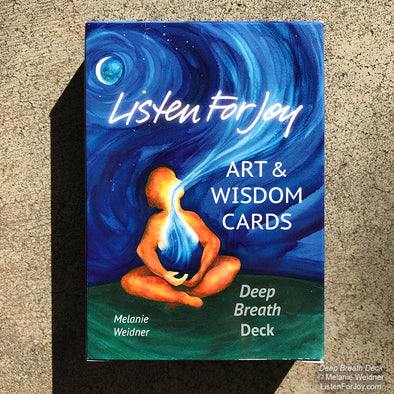1 Deck, Art & Wisdom Cards, Deep Breath