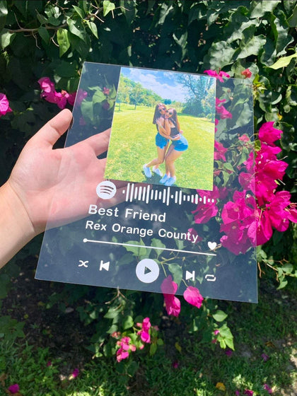 Spotify Personalized Plaque - ThePeppyStore
