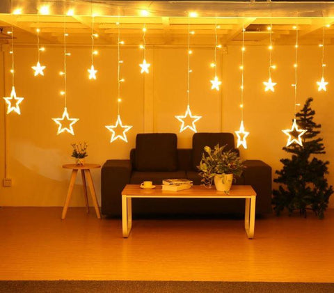 Star String Light - Socket Operated Warm White LED - ThePeppyStore