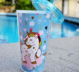 Travel Sipper - Unicorn - Transparent Lid - ThePeppyStore