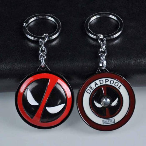Deadpool Rotating Keychain - ThePeppyStore