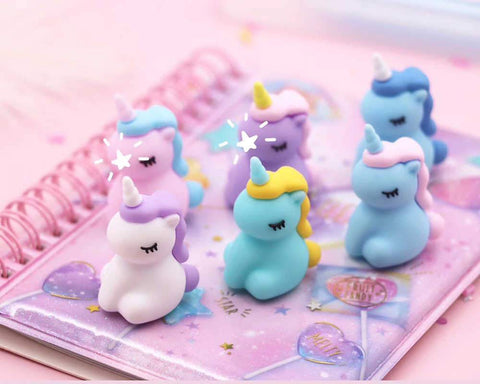 Cute Unicorn Gel pens - Set of 6 - ThePeppyStore