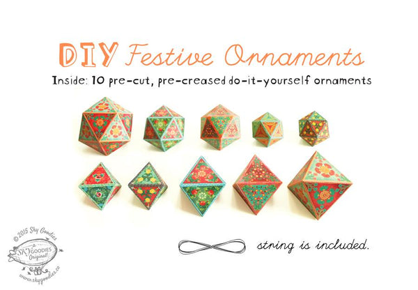 DIY Festive Decor: Set of 10 Ornaments - ThePeppyStore