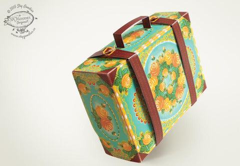 Snap-fit Gift Box: Colorful Suitcase: Blue