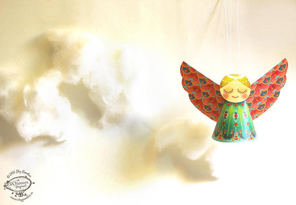 Set of 6 Decorative Paper Angels - ThePeppyStore