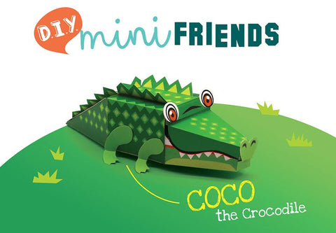 DIY Mini Crocodile Educational Papercraft Kit: Endangered Wildlife Series of DIY Mini Friends