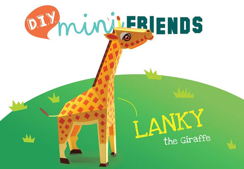 DIY Mini Giraffe Educational Papercraft Kit: Endangered Wildlife Series of DIY Mini Friends