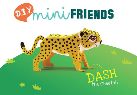 DIY Mini Cheetah Educational Papercraft Kit: Endangered Wildlife Series of DIY Mini Friends
