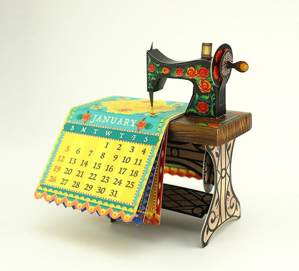 DIY Sewing Machine Desk Calendar for 2020 - ThePeppyStore