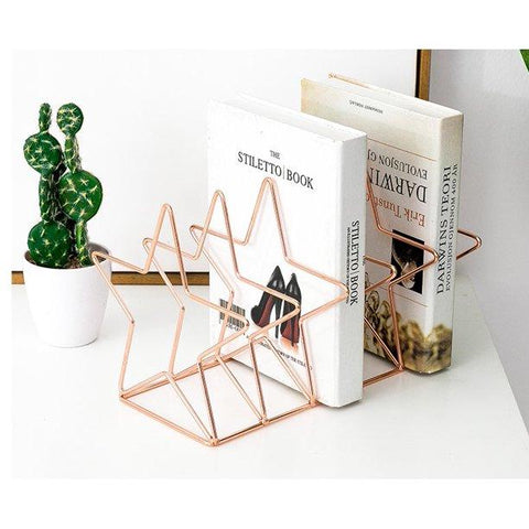 Rose Gold Metal Book Stand Organiser - ThePeppyStore