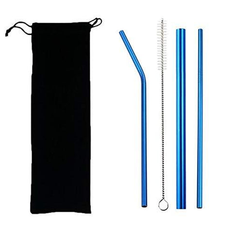 Drinking Straw Stainless Steel - Set of 3 - ThePeppyStore