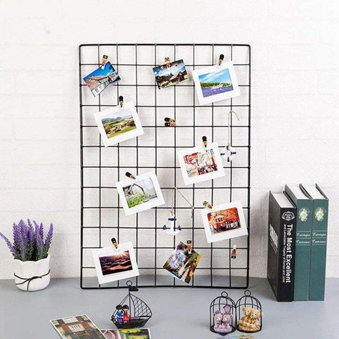 Metal Mesh Grid Photo Frame - (No COD On This Product)
