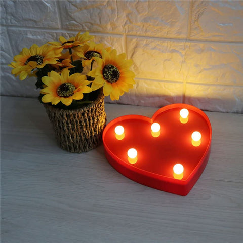 Heart Shaped Red Marquee Light - ThePeppyStore