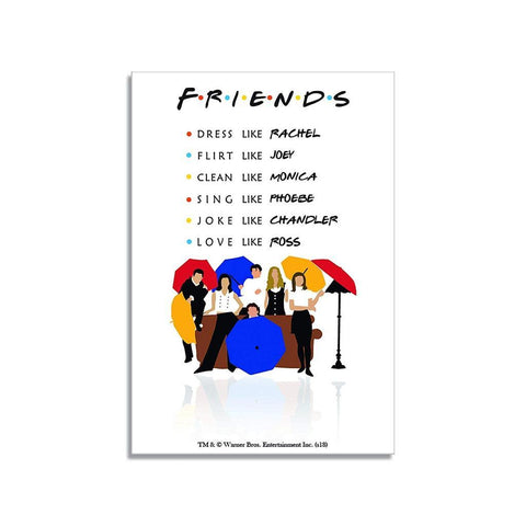 FRIENDS UMBRELLA - RECTANGULAR FRIDGE MAGNET - ThePeppyStore
