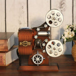Vintage Wood Metal Projector Music Box