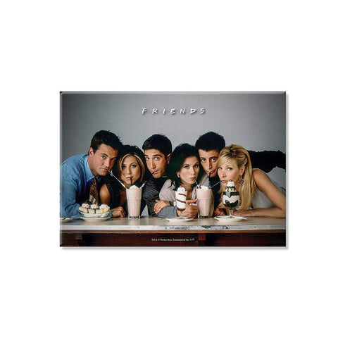 FRIENDS STRAW - RECTANGULAR FRIDGE MAGNET