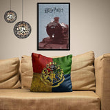 HARRY POTTER HOUSE CREST SATIN CUSHION COVER - ThePeppyStore