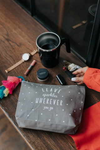 Leave sparkles pouch - ThePeppyStore