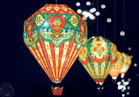 SMALL DIY HOT AIR BALLOON LAMP SHADE: RED DESIGN