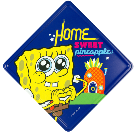 Home Sweet Pineapple (Spongebob Squarepants) Metal Door Sign